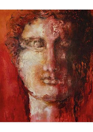Dame romaine, technique mixte sur toile, 2012, 120 x 100 cm © Ada Massaro