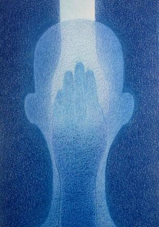 Sans titre 2019, 25 x 16 cm, crayon de couleur sur papier Aron Nicolet