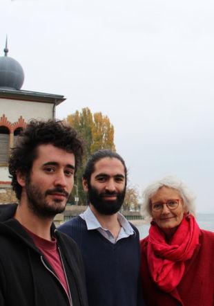 Colas Vuilleumier batterie, Sassoun Arapian piano, Fabienne Vuilleumier récit Muriel Denzler