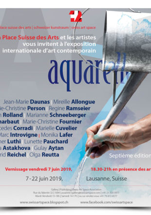 Invitation au vernissage de l'exposition Aquarelle 2019