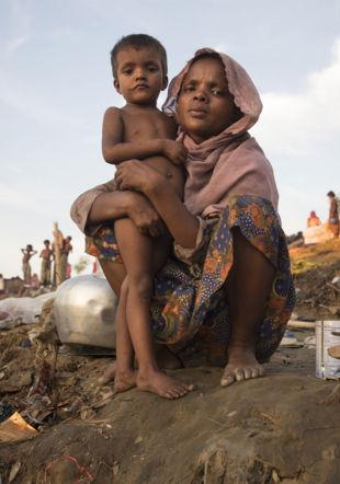 Dans le camp de réfugiés rohingyas de Cox's Bazar