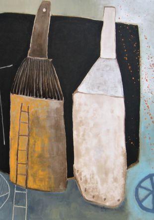 """""""Au bout de la patience, il y a le ciel"""" Acrylique sur toile Sylvie Aubert"""