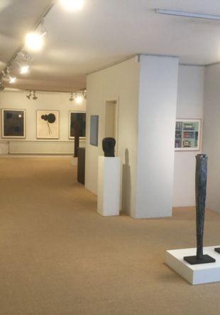 "vue de l'exposition ""artistes de la galerie"" Ditesheim & Maffei Fine Art"