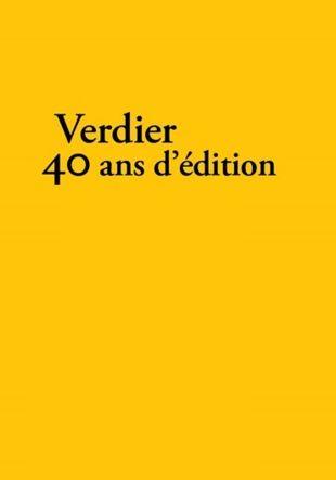 Verdier, 40 ans d'édition D.R