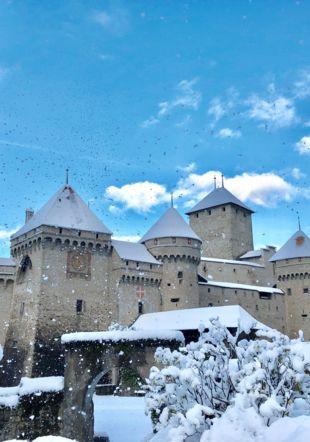 Château en neige
