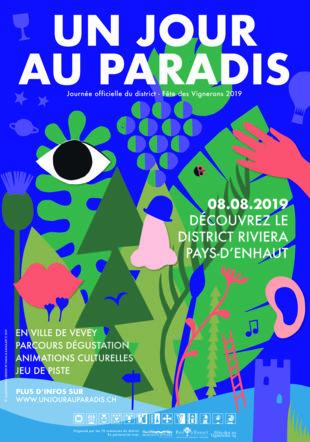 Poster A3 Un jour au Paradis