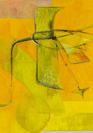 Jean-François Comment, Le Vol des oiseaux, 1956, huile sur toile © Fondation JF Comment