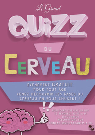 Affiche du premier Grand Quizz Du Cerveau