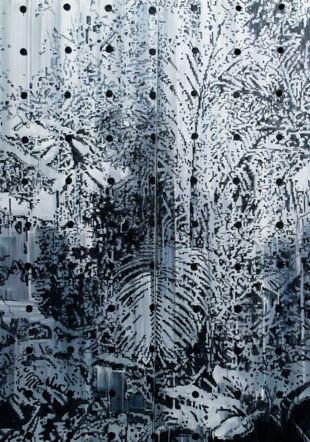 Biotop II, 2017, huile sur toile, 215x294cm Clot, Ditesheim & Maffei Fine Art