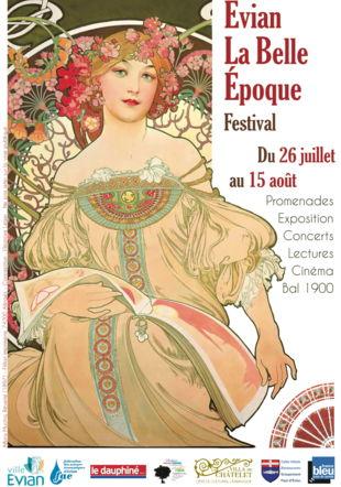 Affiche du festival Evian la Belle Époque
