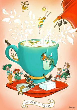 Le lait dans le thé Musée du papier peint