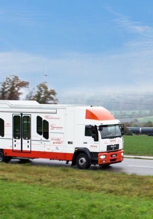 L'infomobile elmex en route. GABA Suisse AG