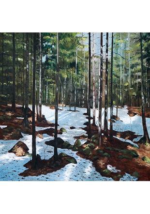La foresta XXVI, huile sur panneau, 2019 © Pascal Bourquin
