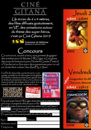 PRogramme de Ciné Gitana 2019