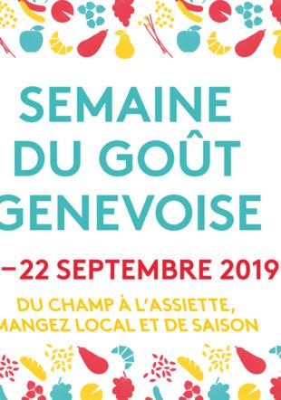 Affiche Semaine du Goût genevoise Ville de Genève