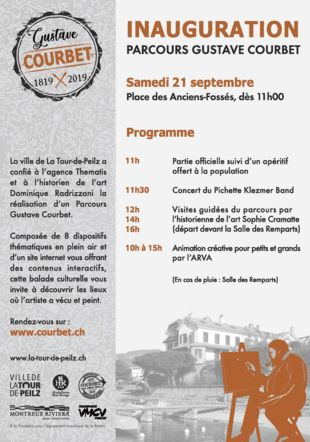 Programme Inauguration Parcours Gustave Courbet