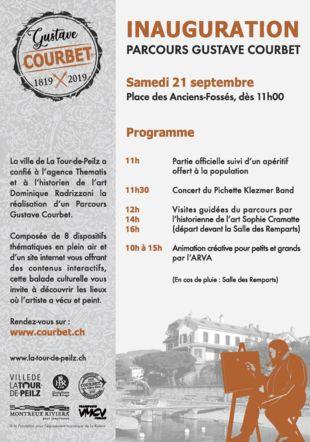 Programme Inauguration Parcours Gustave Courbet La Tour-de-Peilz