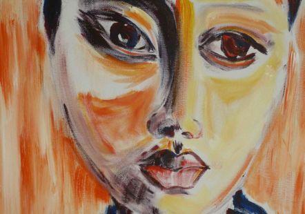 image de l'affiche de l'expo:  'Sous le pinceau!'