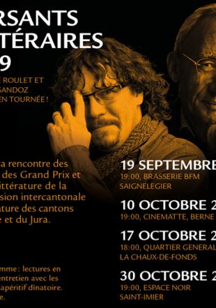 Tournée littéraire avec Daniel de Roulet et Thomas Sandoz Monokini - graphistes libres