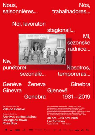 Affiche - Exposition Ville de Genève / Rosa Brux