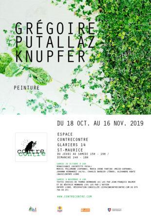 Exposition Grégoire Putallaz-Knupfer, peinture