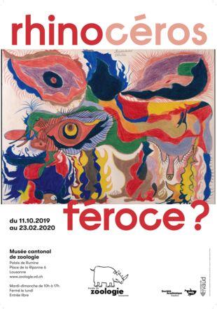 Expo rhinocéros Nicolas Hubert, graphiste