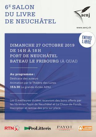 Affiche AENJ 6e Salon du livre Neuchâtel