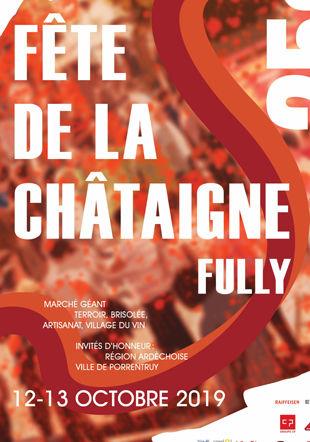 Affiche de la 25ème édition de la Fête de la Châtaigne