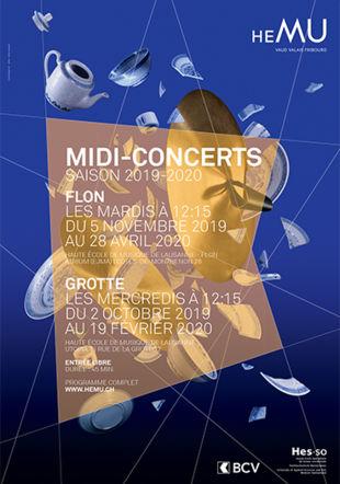 affiche Midi-concert saison 2019-2020 HEMU
