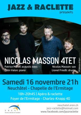Affiche Nicolas Masson 4tet Jazz-raclette