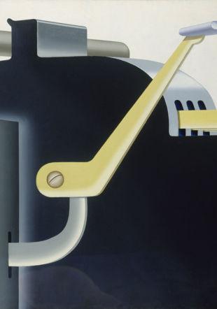 Konrad Klapheck, Der Chef (Le Chef), 1965, huile sur toile, 110 x 160 cm, Kunstpalast Düsseldorf Musée des beaux-arts