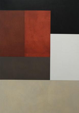 Estrada, Pintura 1634, 2016, huile sur toile, 194x116cm Ditesheim & Maffei Fine Art/Adolfo Estrada