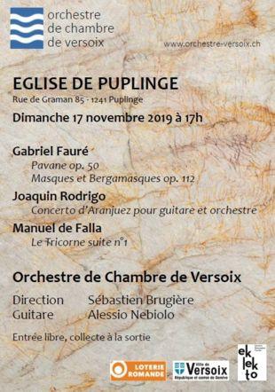 Affiche du concert Orchestre de Chambre de Versoix