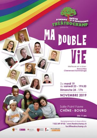 Flyer spectacle Ma double vie