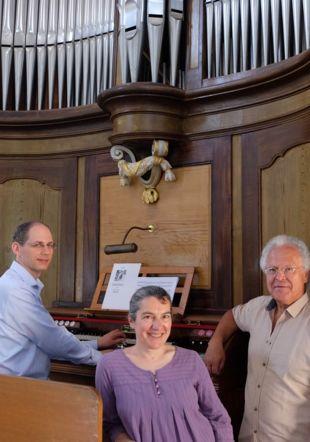 Daniel Chappuis, orgue, Françoise Masset, soprano, Pierre-Alain Clerc, récitant