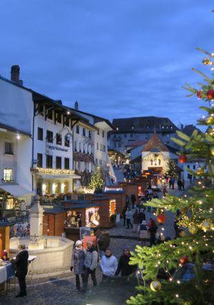 Marché de Noël à Gruyères La Gruyère Tourisme