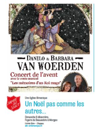 Flyer d'invitation aves les Van Woerden