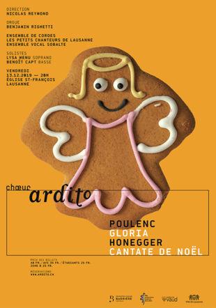 Affiche du concert Honegger Poulenc @Choeur Ardito