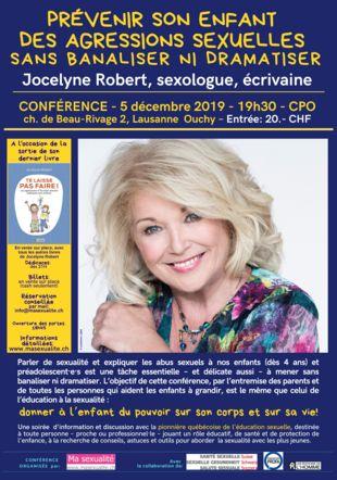 Affiche Conférence Jocelyne Robert