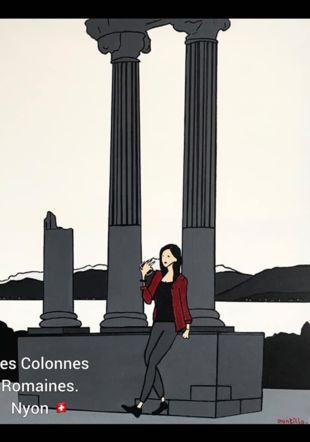 Les Colonnes Romaines.  Nyon