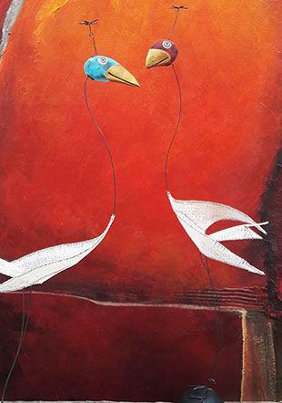 oiseaux de David Aigroz, tableau Solange Ringger Lucie Weber