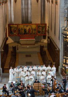 La Maîtrise de Fribourg lors d'un concert à l'église des Cordeliers Maîtrise de Fribourg