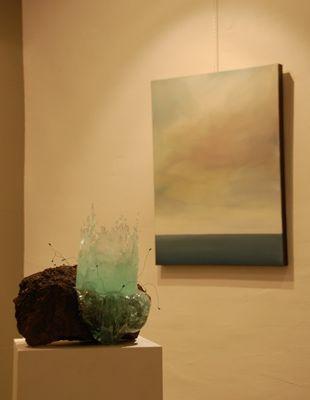 Caroline Ferrara - sculpture et Pierre-Bernard Despland - peinture Espace culturel Bleu de Chine