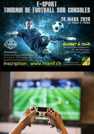Tournoi de Football sur consoles FC Prangins
