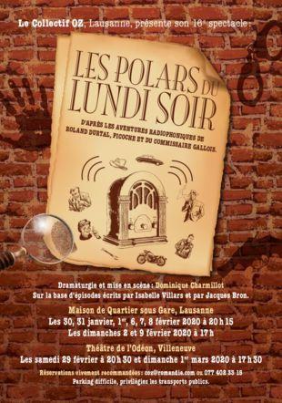 """Gagnez vos billets pour """"Les Polars du lundi soir"""" à Lausanne !"""