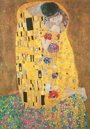 Gustav Klimt, Le baiser. 1908