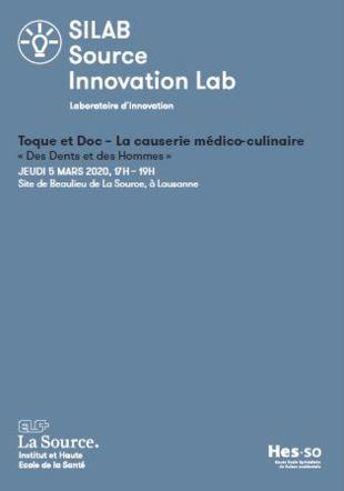 Flyer Toque et Doc du SILAB Archives Fondation La Source