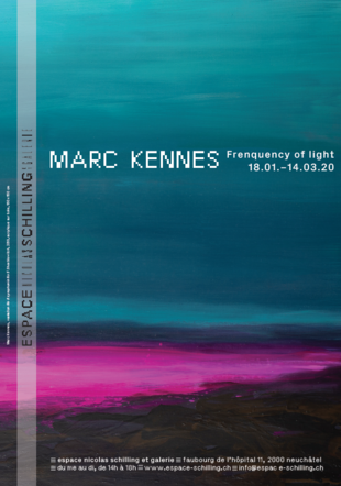 Affiche Marc Kennes - Frequency of light Espace Nicolas Schilling et Galerie