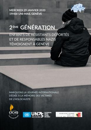 2ème Génération : enfants de résistants déportés et de responsables nazis témoignent à Genève