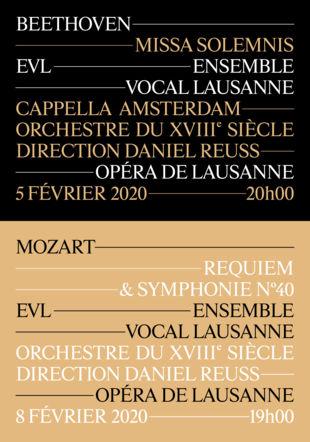 Affiche Mozart/Beethoven